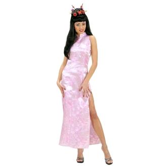 Robe rose de soirée chinoise - 40/42