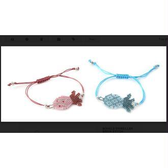 Bracelet ananas brick stitch
