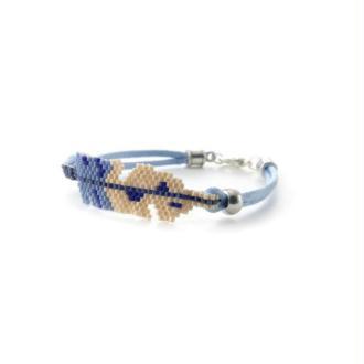 Bracelet plume miyuki bleu