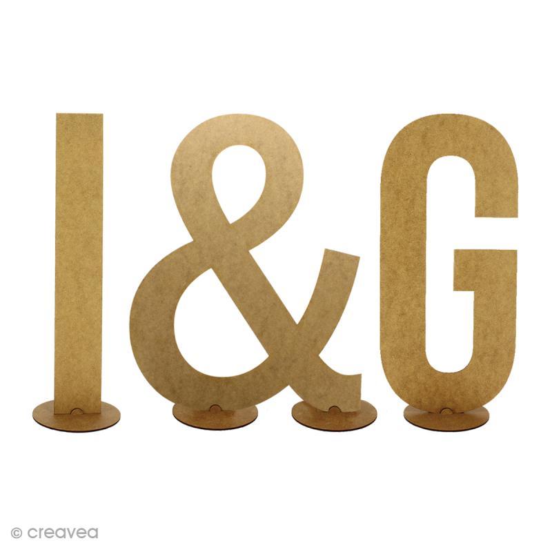 Kit support en bois pour lettres géantes - 1 pce - Photo n°3
