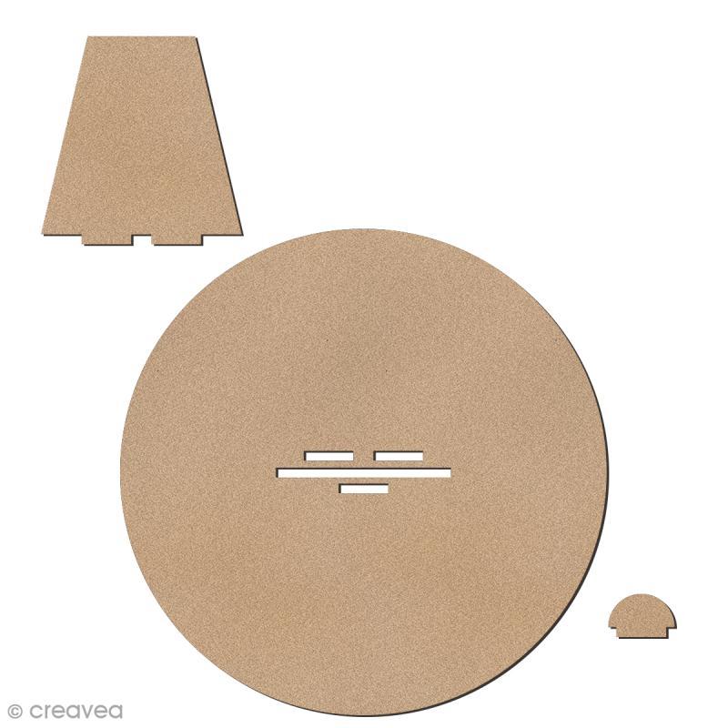 Kit support en bois pour lettres géantes - 1 pce - Photo n°4