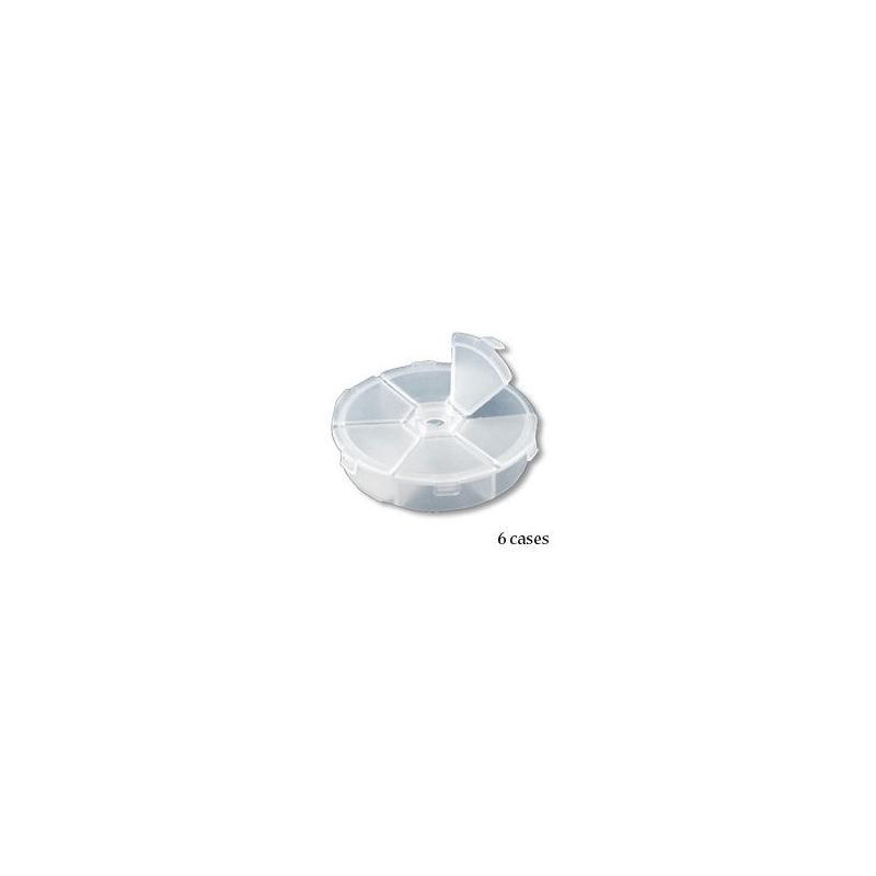Boite de rangement plastique 6 cases bo te de for Accessoire de rangement de cuisine