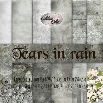 24 papiers 15.2 x 15.2 cm ALTAIR ART TEARS IN RAIN