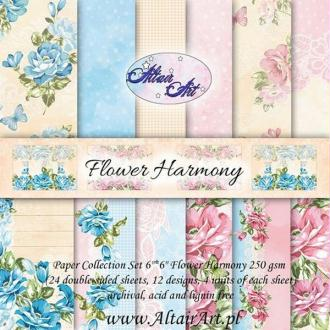 24 papiers 15.2 x 15.2 cm ALTAIR ART FLOWER HARMONY