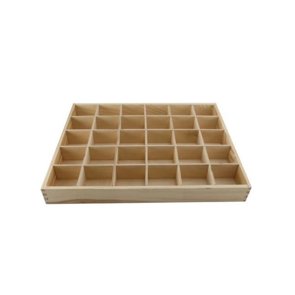 en soldes f2343 daf1a Casier en bois 30 cases pour perles (sans couvercle) 38x29x4 cm