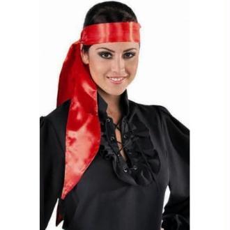 Foulard rouge satin luxe mixte