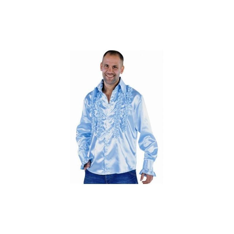 d guisement chemise disco bleu ciel homme luxe taille xxl costumes homme creavea. Black Bedroom Furniture Sets. Home Design Ideas