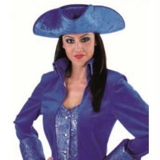 Chapeau tricorne bleu cobalt adulte luxe_ Taille T1