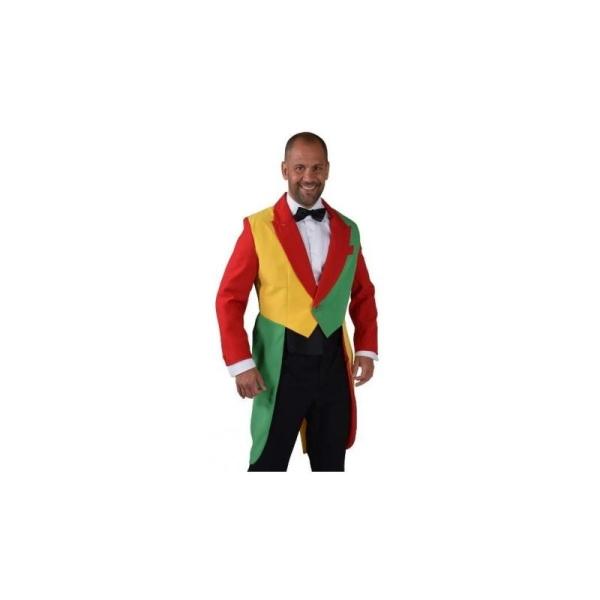 Déguisement queue de pie rouge jaune vert homme luxe  Taille XL - Photo n°2 691b830ecc5