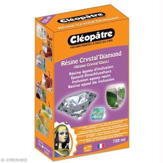 Kit résine Crystal Glass Cléopâtre et durcisseur