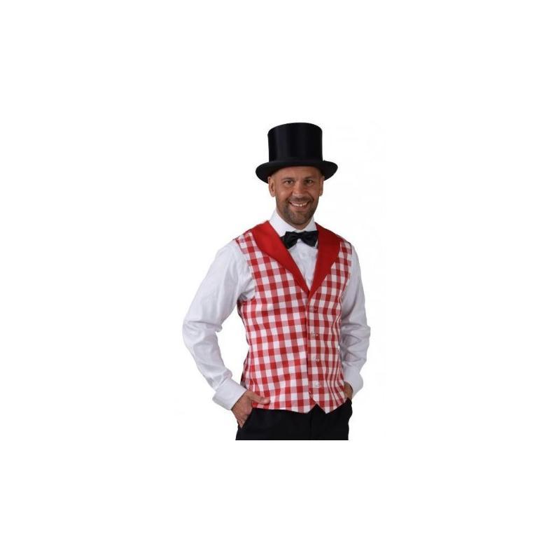 d guisement gilet damier rouge blanc homme luxe taille xss costumes homme creavea. Black Bedroom Furniture Sets. Home Design Ideas