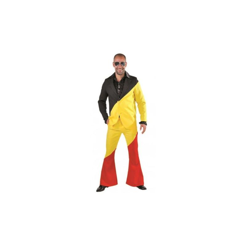 d guisement costume noir jaune rouge homme luxe taille xl costumes homme creavea. Black Bedroom Furniture Sets. Home Design Ideas