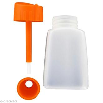 Flacon vide avec pinceau et entonnoir incorporé 80 ml