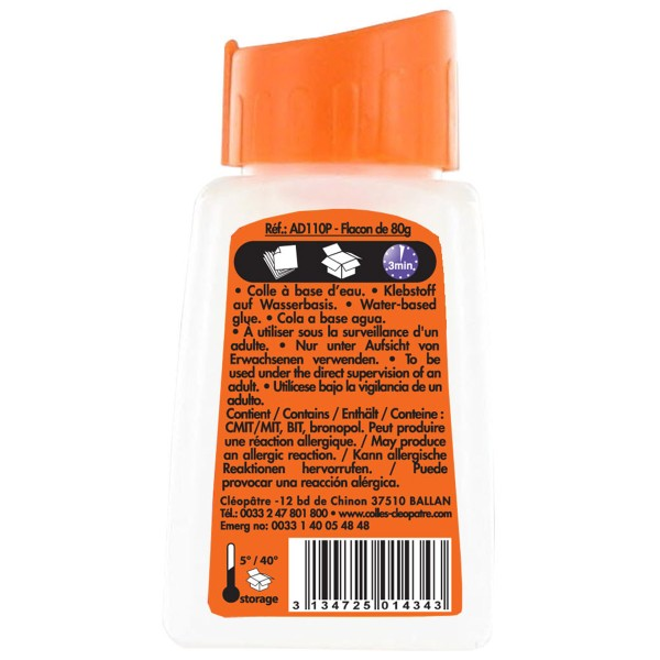 Colle forte ADHESIVE avec pinceau 80 g - Photo n°3