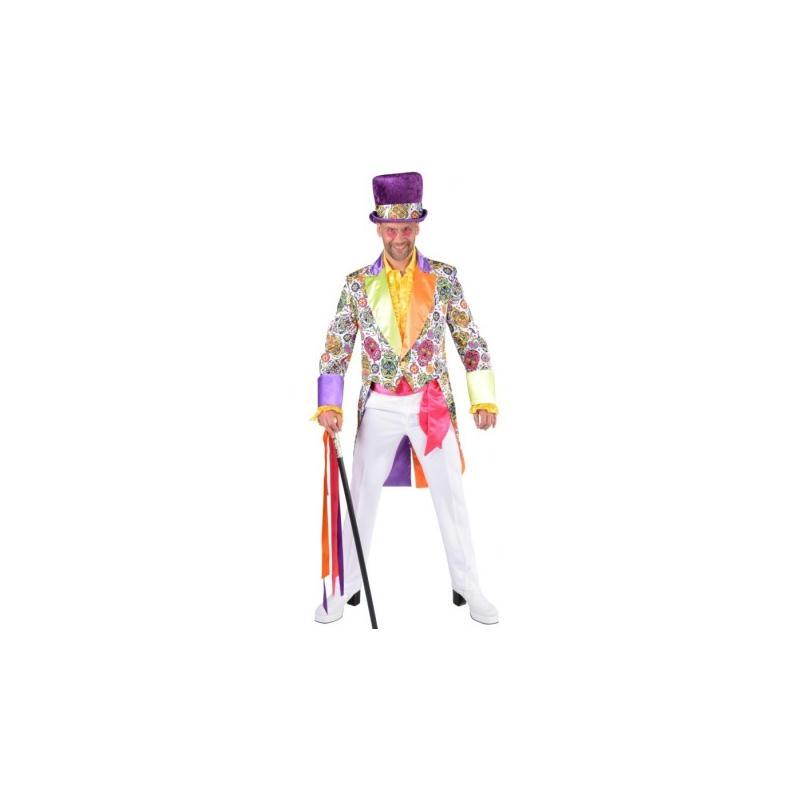 d guisement queue de pie mexican skull homme luxe taille m costumes homme creavea. Black Bedroom Furniture Sets. Home Design Ideas