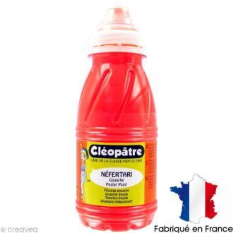 Gouache peinture NEFERTARI Fluo Rouge 250 ml
