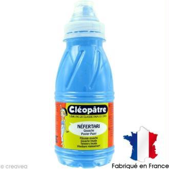 Gouache peinture NEFERTARI Fluo Bleu 250 ml