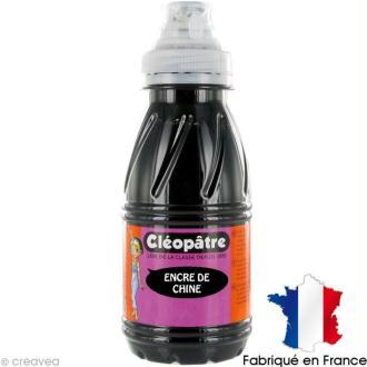Encre de Chine Noir Cléopâtre 250 ml