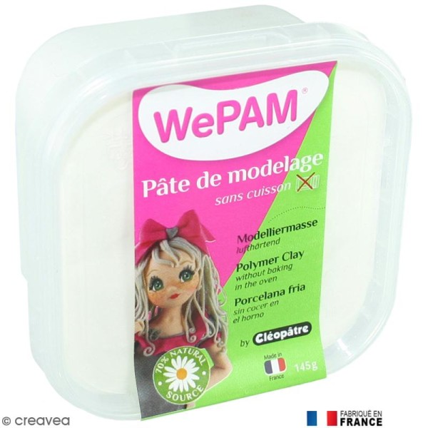 Porcelaine froide à modeler WePAM Blanc 145 g - Photo n°1