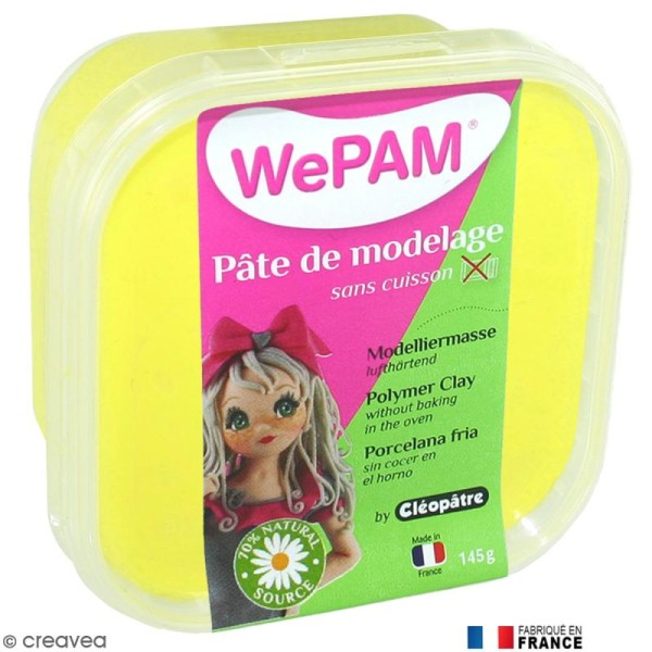 Porcelaine froide à modeler WePAM Jaune 145 g - Photo n°1
