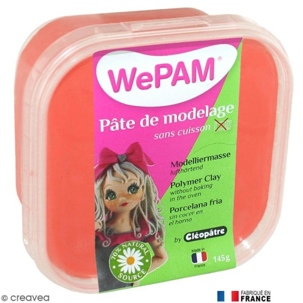Porcelaine froide à modeler WePAM Rouge 145 g - Photo n°1