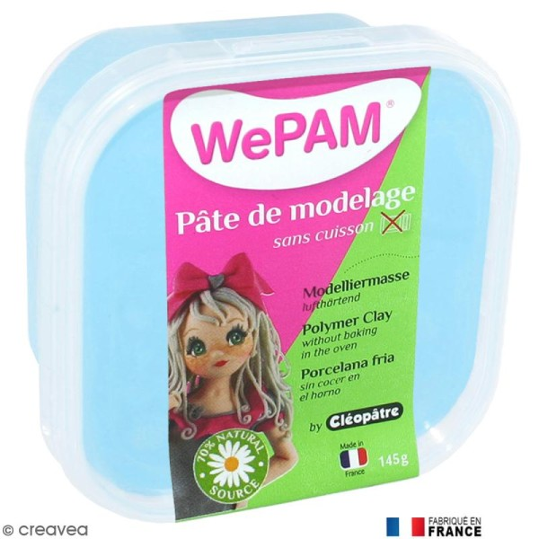 Porcelaine froide à modeler WePAM Azur 145 g - Photo n°1
