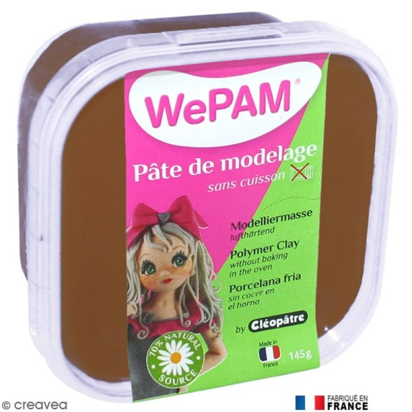 Porcelaine froide à modeler WePAM Chocolat 145 g - Photo n°1