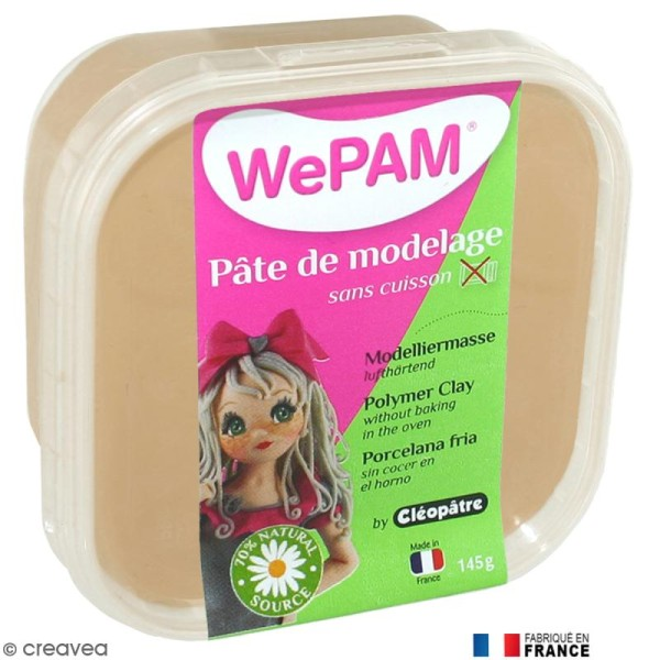 Porcelaine froide à modeler WePAM Taupe 145 g - Photo n°1