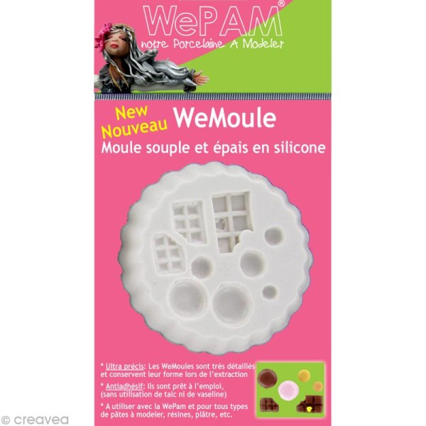 Moule silicone WePAM Chocolats et Macarons - Photo n°1