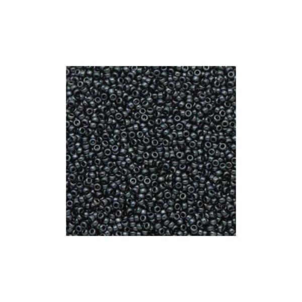 10 G rocaille miyuki 15/0 metallic gunmetal 15-451 - Photo n°1