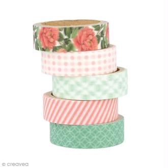 Masking Tape Artemio - Jardin secret - 1,5 cm x 5 m - 5 pcs