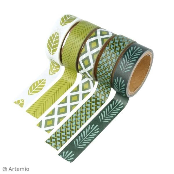 Masking Tape Artemio - Deep green - 1,5 cm x 5 m - 5 pcs - Photo n°2