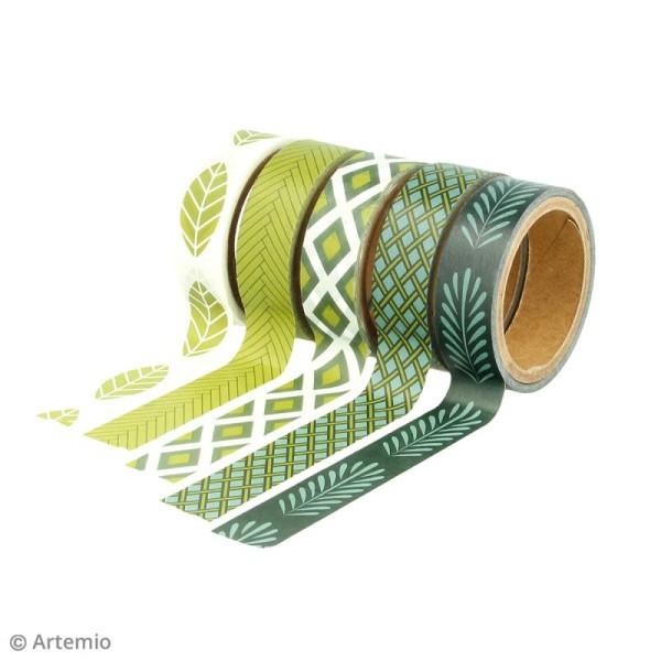 Masking Tape Artemio - Deep green - 1,5 cm x 5 m - 5 pcs - Photo n°3