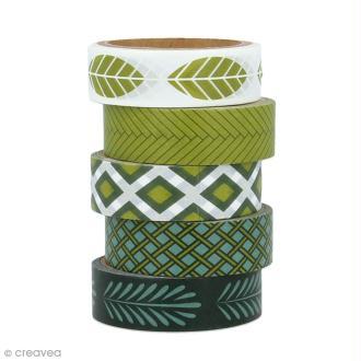 Masking Tape Artemio - Deep green - 1,5 cm x 5 m - 5 pcs