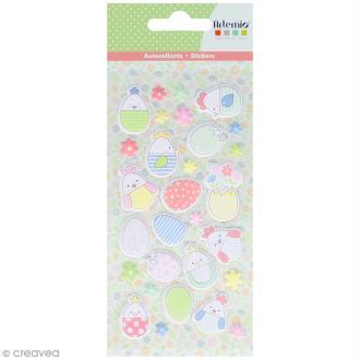 Stickers Artemio Puffies - Oeuf de Pâques - 29 pcs