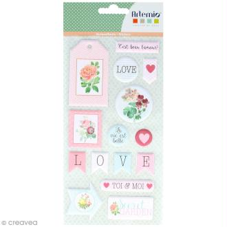 Stickers Puffies XL - Jardin secret - 34 autocollants
