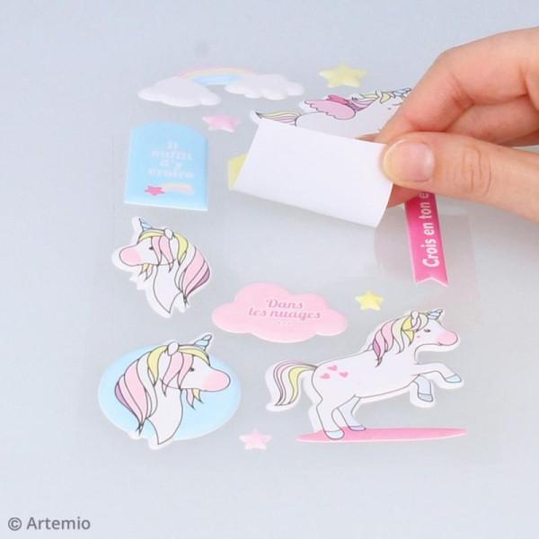 Stickers Puffies XL - Rainbow Licorne - 26 autocollants - Photo n°4