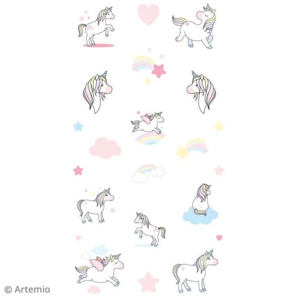 Stickers Epoxy - Rainbow Licorne à paillettes - 22 pcs - Photo n°5