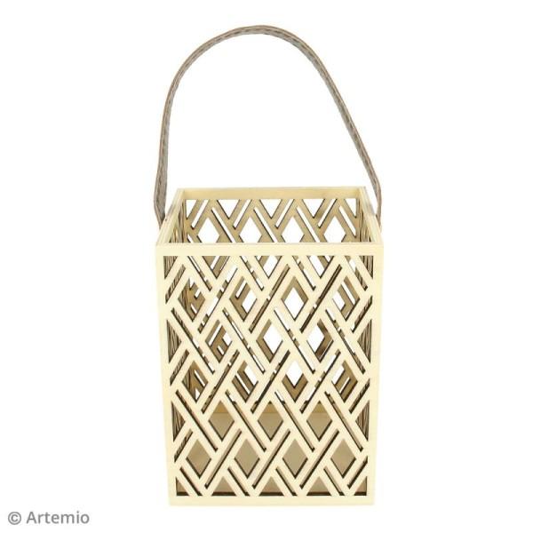 Lanterne rectangulaire ajourée à décorer - Losanges géométriques - 10 x 13 cm - Photo n°2