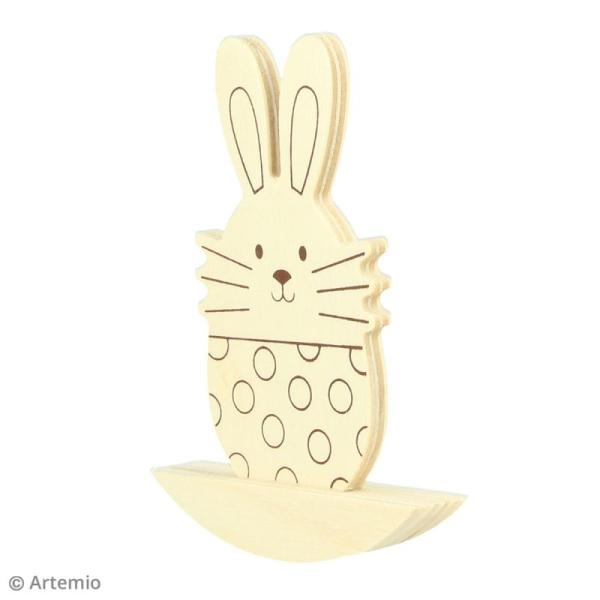 Forme à bascule à décorer 7,5 x 10 cm - Lapins de pâques - 2 pcs - Photo n°3
