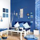 Châssis bois ajouré à décorer - Blue ethnic Ondulation - 30 x 30 cm - Photo n°3