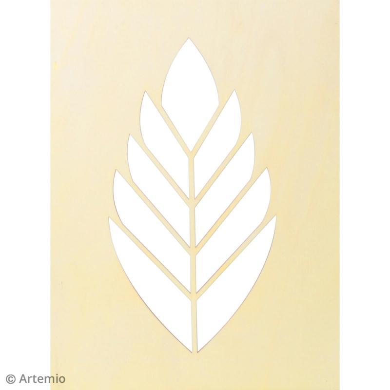 Châssis bois ajouré à décorer - Deep green Feuille - 30 x 40 cm - Photo n°3