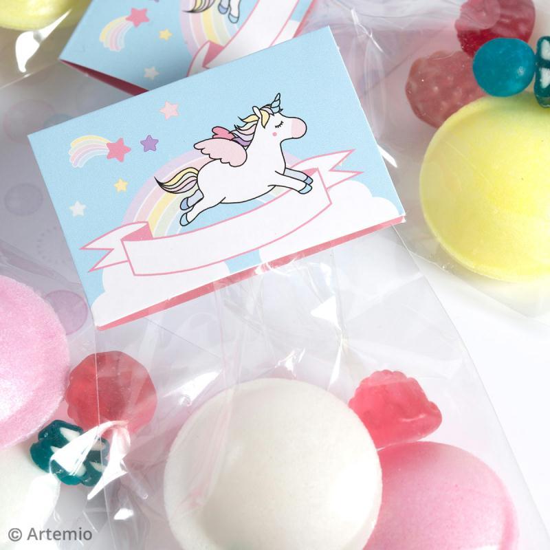 Kit boîte à popcorn en carton à décorer - Rainbow Licorne - 6 pcs - Photo n°3
