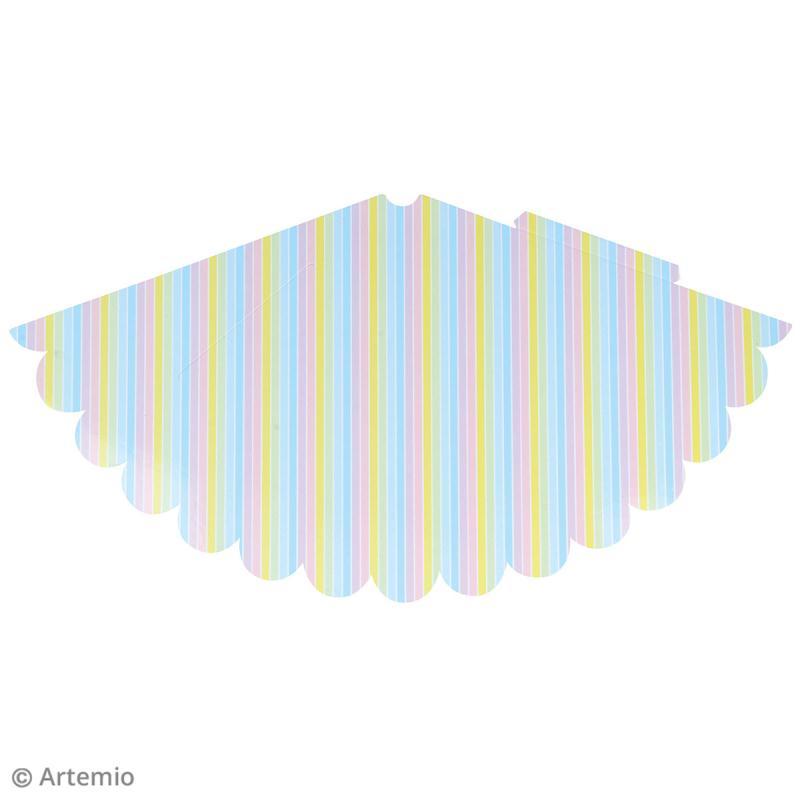 Kit chapeaux de fête à fabriquer - Rainbow Licorne - 10 pcs - Photo n°5