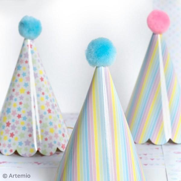 Kit chapeaux de fête à fabriquer - Rainbow Licorne - 10 pcs - Photo n°3