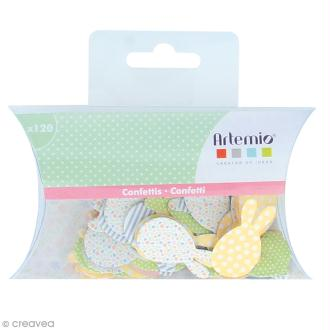 Confettis muticolores - Lapin de Pâques - 120 pcs