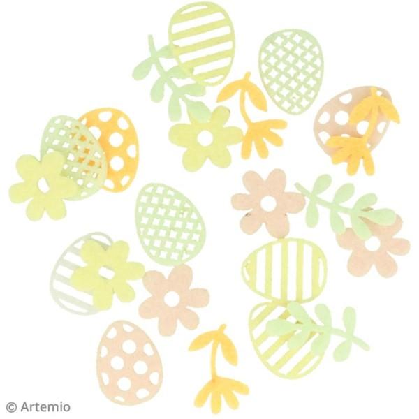 Set de mini silhouettes en feutrine - Pâques - 45 pcs - Photo n°2