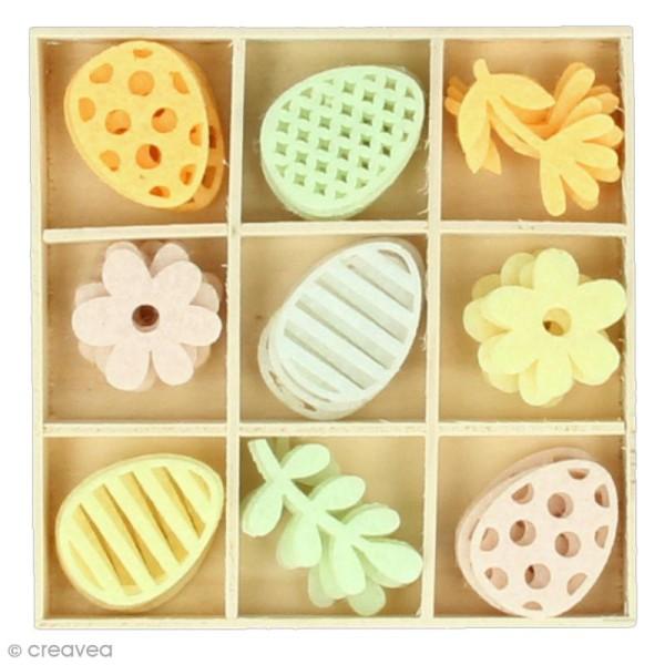 Set de mini silhouettes en feutrine - Pâques - 45 pcs - Photo n°1