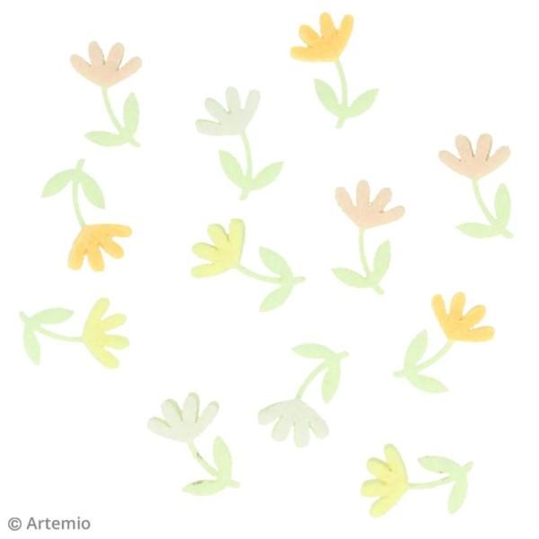 Forme en feutrine Décoration - Fleurs de printemps - 12 pcs - Photo n°2