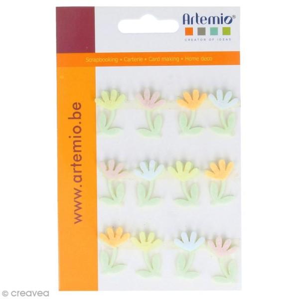 Forme en feutrine Décoration - Fleurs de printemps - 12 pcs - Photo n°1
